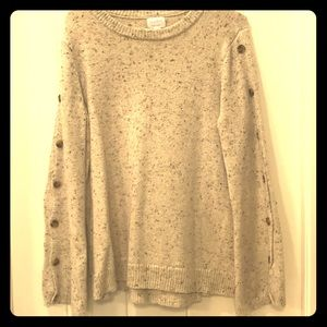 Sweaters - Size medium tan sweater with buttons on arms